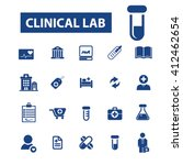 clinical lab icons  | Shutterstock .eps vector #412462654