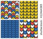 herringbone pattern set vector... | Shutterstock .eps vector #412464385