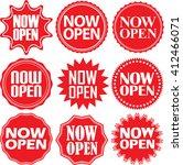 now open red label. now open... | Shutterstock .eps vector #412466071