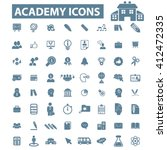 academy icons  | Shutterstock .eps vector #412472335