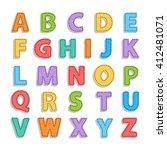 abstract needled alphabet... | Shutterstock . vector #412481071