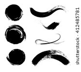 set of empty scribble circles... | Shutterstock .eps vector #412485781