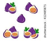 figs set. vector | Shutterstock .eps vector #412485871