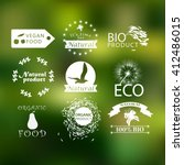 natural organic product labels  ...   Shutterstock .eps vector #412486015
