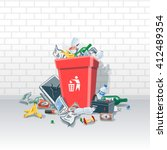 vector illustration of... | Shutterstock .eps vector #412489354
