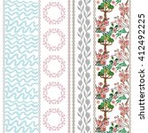 Set Of Floral Borders With...