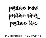 positive mind  vibes  life... | Shutterstock .eps vector #412492441