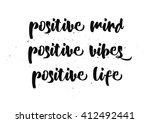 positive mind  vibes  life... | Shutterstock .eps vector #412492441