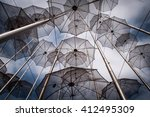 metal umbrellas | Shutterstock . vector #412495309
