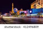 las vegas   july 12  night view ...   Shutterstock . vector #412496809