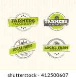 local farm logo   local farm... | Shutterstock .eps vector #412500607