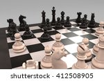 3d rendering of chess board game | Shutterstock . vector #412508905