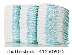 Stacks Of Diapers Isolated On...