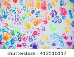 White Wall With Colorful...