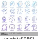 thin line icons set. brain ... | Shutterstock .eps vector #412510999