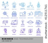 thin line icons set. business... | Shutterstock .eps vector #412511761