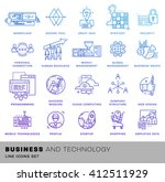 thin line icons set. business... | Shutterstock .eps vector #412511929