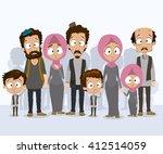 illustration of big refugees... | Shutterstock .eps vector #412514059