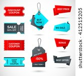 coupon sale  offers and... | Shutterstock .eps vector #412515205