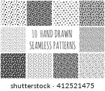 abstract polka dot pattern set... | Shutterstock .eps vector #412521475