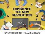 resolution digital screen ultra ... | Shutterstock . vector #412525609