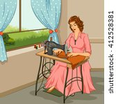 Concept Of Retro Woman Making...