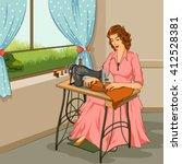 Concept Of Retro Woman Making...