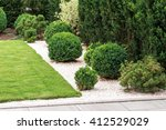 Bushes And Plants In Landscape...