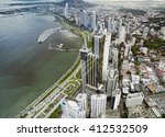 aerial view of panama city ... | Shutterstock . vector #412532509
