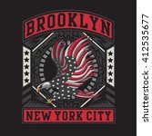 eagles brooklyn typography  t... | Shutterstock .eps vector #412535677