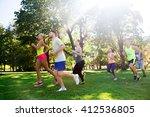 fitness  sport  friendship ...   Shutterstock . vector #412536805