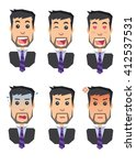 icons of human emotions flat... | Shutterstock .eps vector #412537531