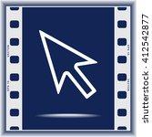 cursor sign icon  vector...   Shutterstock .eps vector #412542877