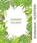 tropical green vertical poster | Shutterstock . vector #412547035