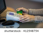 patient and optician | Shutterstock . vector #412548754
