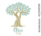 olive tree vector illustration. ...   Shutterstock .eps vector #412549549