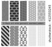 collection of black and white... | Shutterstock .eps vector #412553245