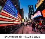 new york city   april 21  times ... | Shutterstock . vector #412561021