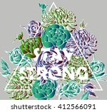 quote background with beautiful ... | Shutterstock .eps vector #412566091