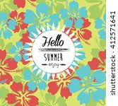 summer denim camouflage... | Shutterstock .eps vector #412571641