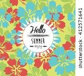 summer denim camouflage... | Shutterstock .eps vector #412571641