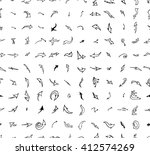 hand drawn doodle seamless... | Shutterstock .eps vector #412574269