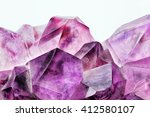 crystal stone macro  purple... | Shutterstock . vector #412580107