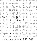 hand drawn doodle seamless... | Shutterstock .eps vector #412581901