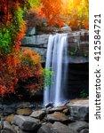 The Beautiful Waterfall In Dee...