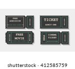 vector flat invite tickets.... | Shutterstock .eps vector #412585759