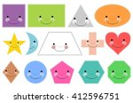 cartoon basic geometric shapes. ... | Shutterstock .eps vector #412596751