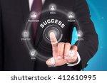 success technology... | Shutterstock . vector #412610995