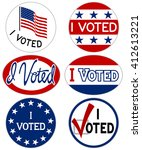 "vector illustration of ""i voted""... 
