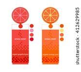 drink concept. citrus fruits.... | Shutterstock .eps vector #412629985